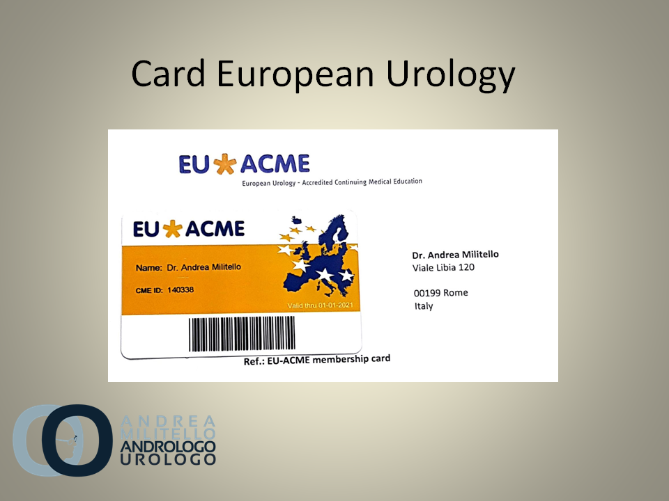 Card European Urology