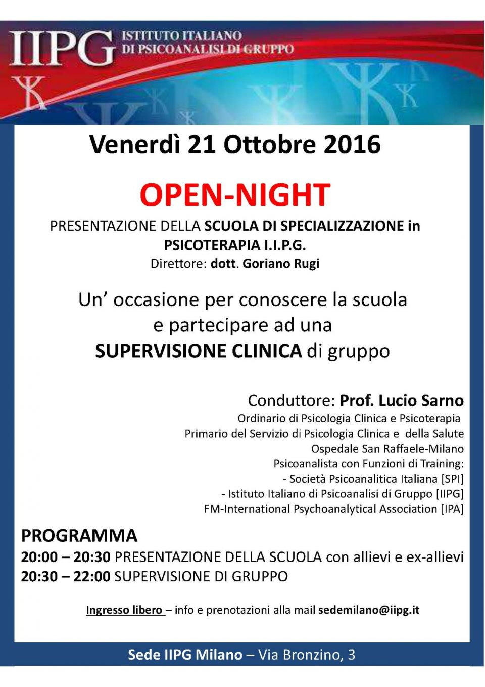 Open Night IIPG ottobre 2016 pdf