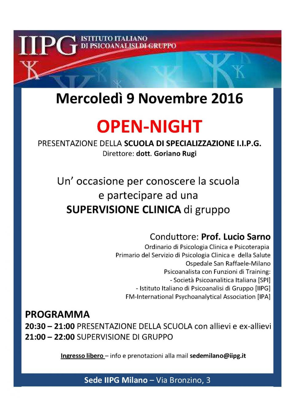 Open Night IIPG novembre 2016 pdf