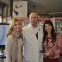 Federica Fontana, il Dottor Paolo Vintani Vice Presidente di Federfarma Milano e Susanna Messaggio
